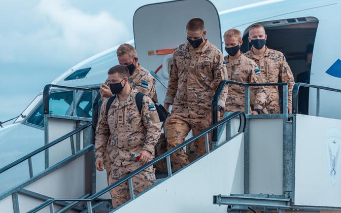 Эстонские военнослужащие провели четыре месяца в командировке в Мали.