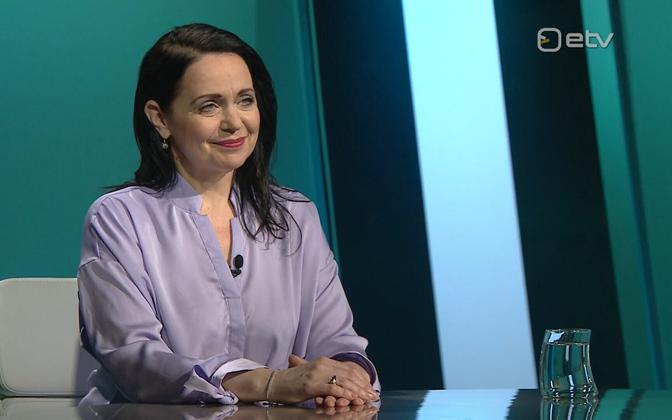 Anneli Ott on Thursday's 'Esimene stuudio'.
