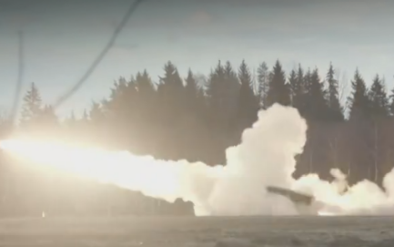 MLRS in action at the EDF's Central Polygon training area Wednesday.