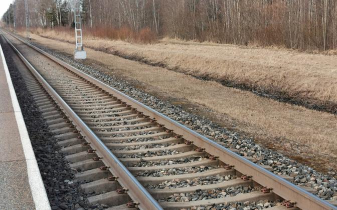 A section of rail track in Estonia (photo is illustrative).