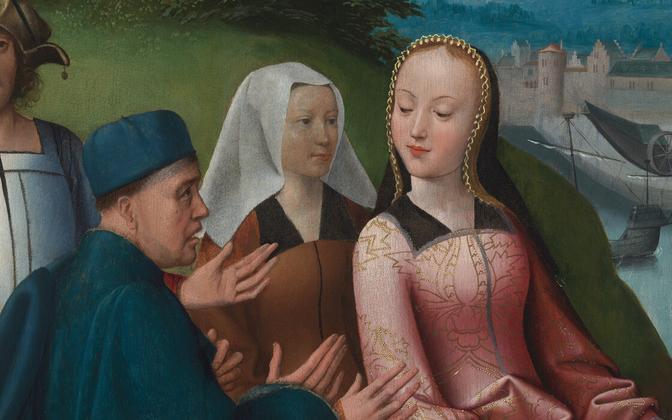 Püha Dymphna altariretaabel. Detail. U 1505.