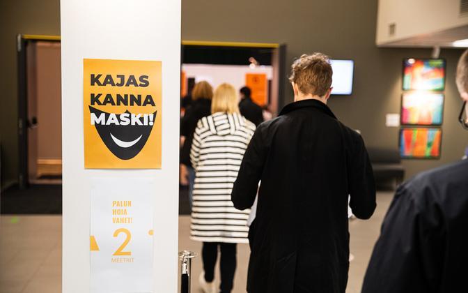 The vaccination center at Mustamäe's Kaja Culture Center.