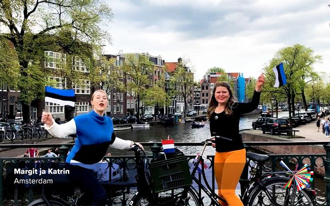 Estonians in Holland, with Eurovision 2021 greetings.