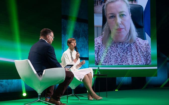 President Kersti Kaljulaid and European Commissioner for International Partnerships Jutta Urpilainen.