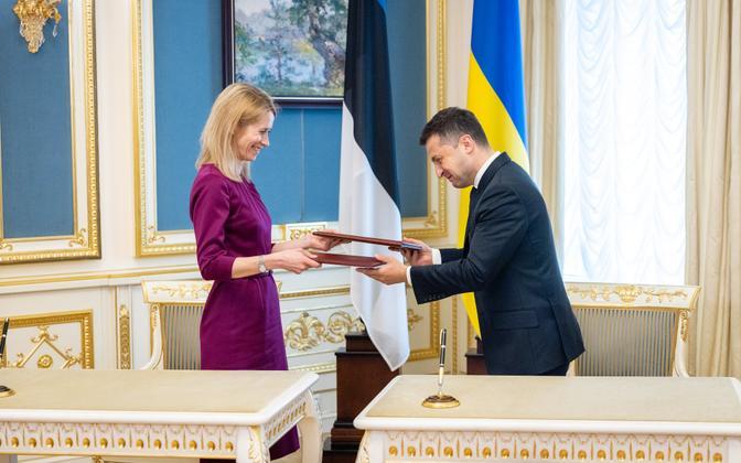 Кая Каллас и Владимир Зеленский.