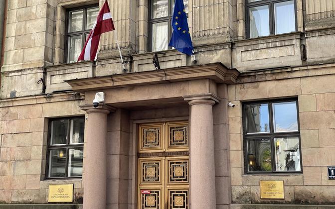Läti rahandusministeeriumi hoone Riia vanalinnas.