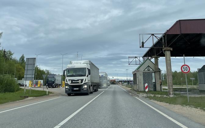 Läti-Eesti piiriületuspunkt Via Baltical Iklas.
