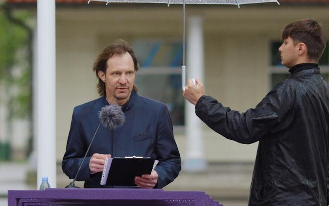 Indrek Saar, delivering a speech in Paide recently.