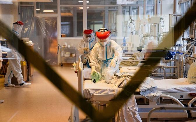 Палата для пациентов с коронавирусом в одной из больниц Литвы.