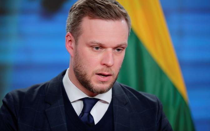 Leedu välisminister Gabrielius Landsbergis.