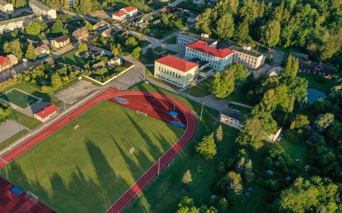 August Kitzberg High School in Karksi-Nuia.