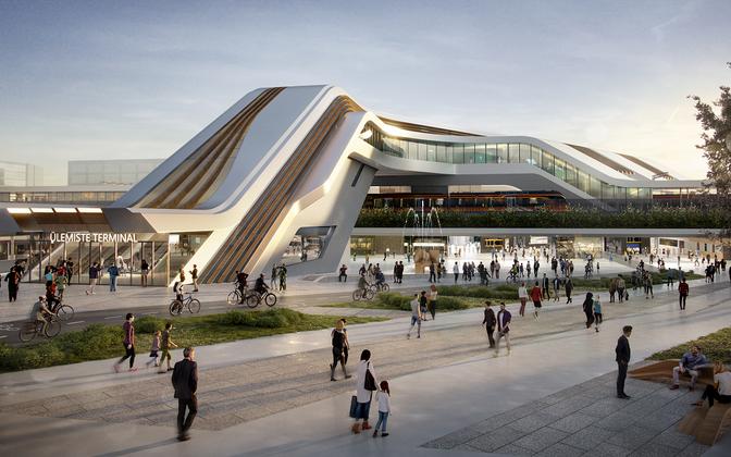 Rail Baltica Ülemiste terminali välisvaade.