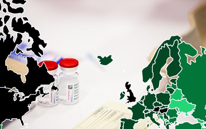 Enam kui poole oma elanikkonnast on jõudnud vaktsineerida kolm Euroopa Liidu riiki.
