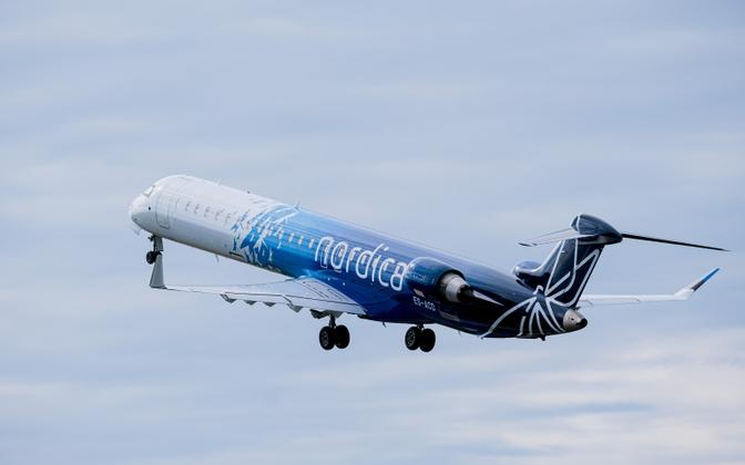 A Nordica aircraft taking off from Tallinn.