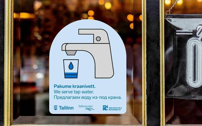 The label companies in Tallinn can display if they offer tap water.