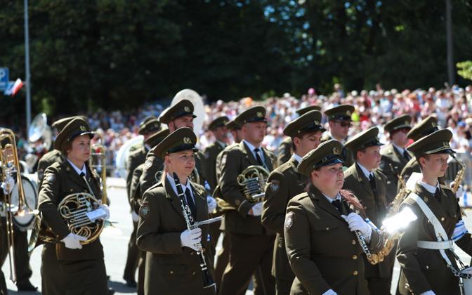 Парад в честь Дня победы.