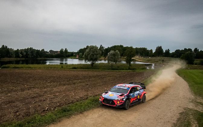 Ott Tänak and Martin Järveoja in action in last year's Rally Estonia.