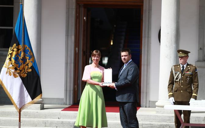 President Kersti Kaljulaid awards state decorations on June 4, 2021.
