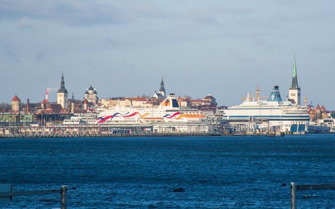 Ferries at the Port of Tallinn.