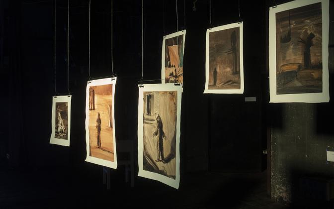 Näitusevaade Eero Alevi teostele.