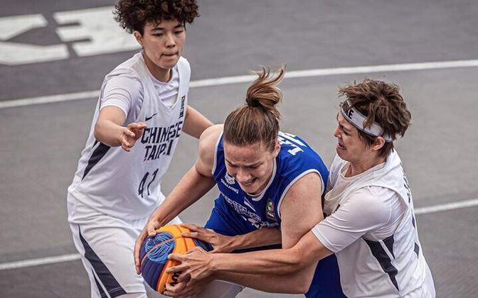 Eesti naiste 3x3 korvpallikoondis mängus Hiina Taipei vastu