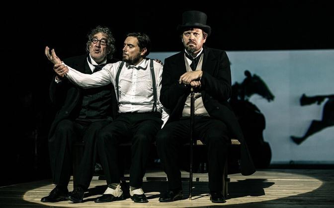 Guido Kangur, Prit Võigemast ja Mait Malmsten lavastuses
