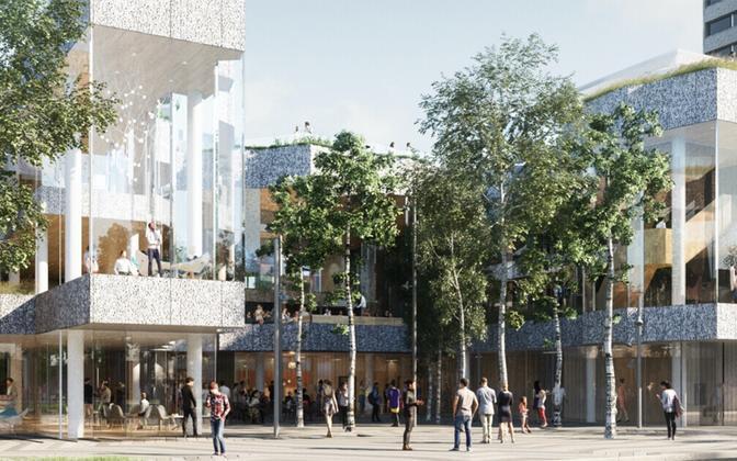 Planned International Estonian Centre (KESKUS) in downtown Toronto, Canada.