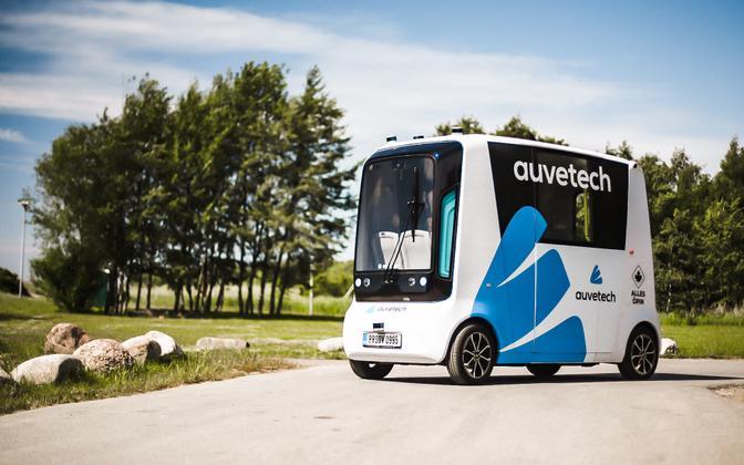 Auve Tech's autonomous vehicle.