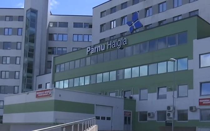 Pärnu Hospital, where the truck driver involved in Wednesday morning's accident has been taken.