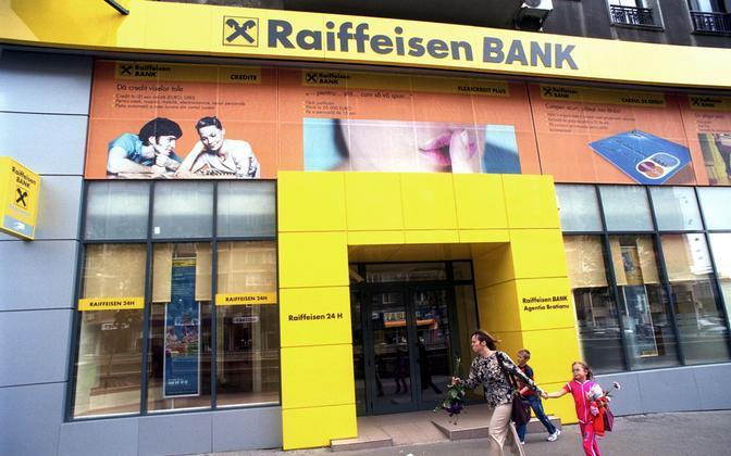 Autria Raiffeiseni panga kontor.