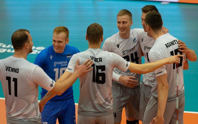 Eesti koondis mängus Belgia vastu