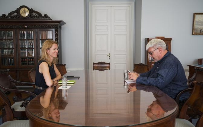 Toomas Sildam's interview with Kaja Kallas.