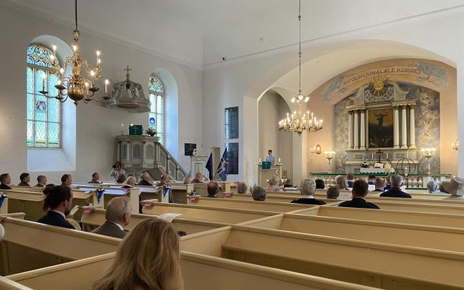 Victory Day church service at Paide Church.