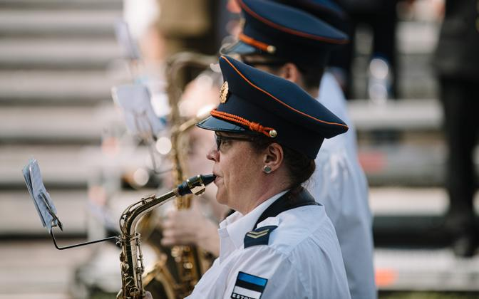 EDF orchestra at the Victory Day parade in Paide, June 23 2021.
