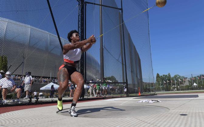 Gwen Berry olümpia katsevõistlusel