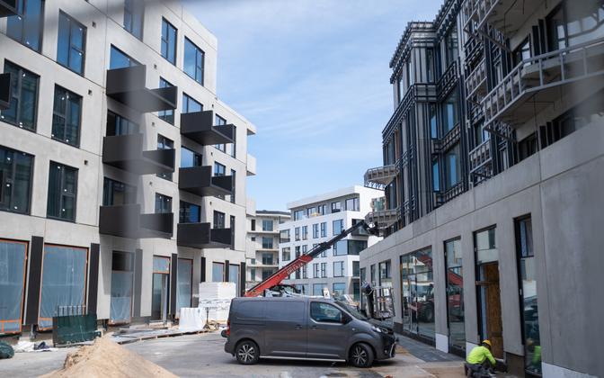 Real estate development in Tallinn.
