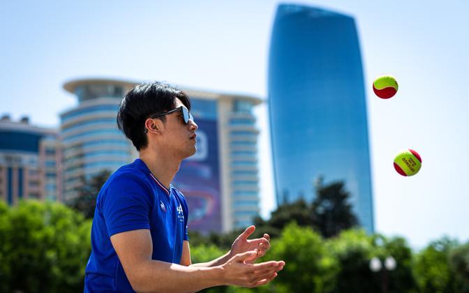 Guanyu Zhou Aserbaidžaani GP-l