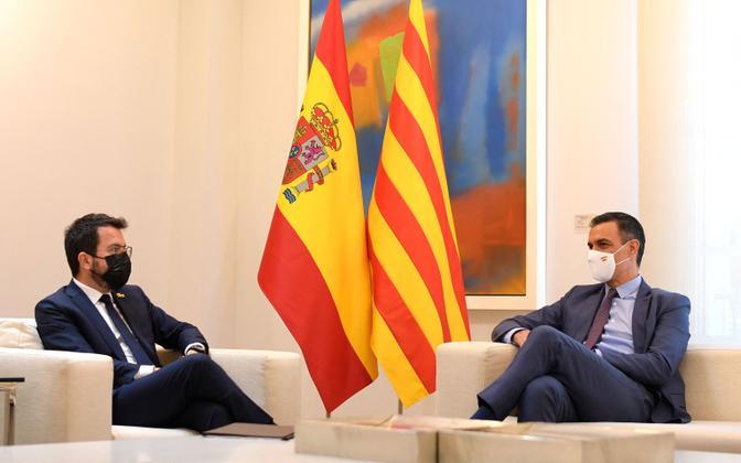 Pere Aragones ja Pedro Sanchez.