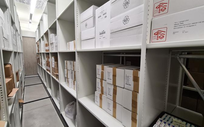 The Health Board's cold storage unit.