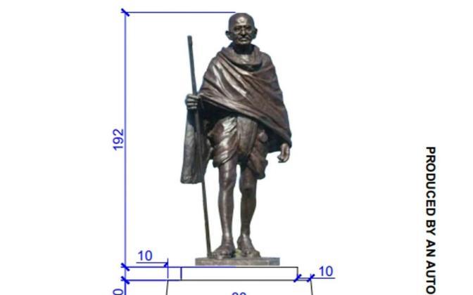 Проект памятника Махатме Ганди, который будет установлен в Таллинне.