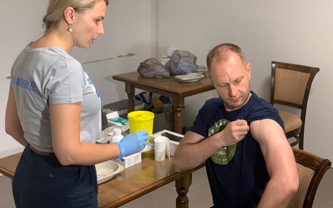 Eelregistreerimata vaktsineerimine Fama keskuses Narvas