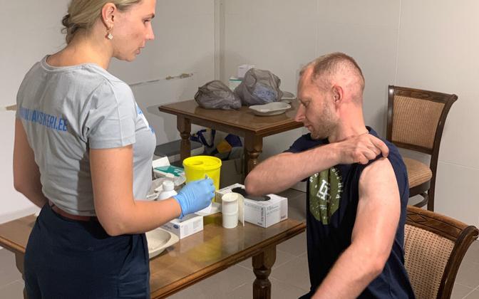 Вакцинация без предварительной записи в торговом центре Fama в Нарве.