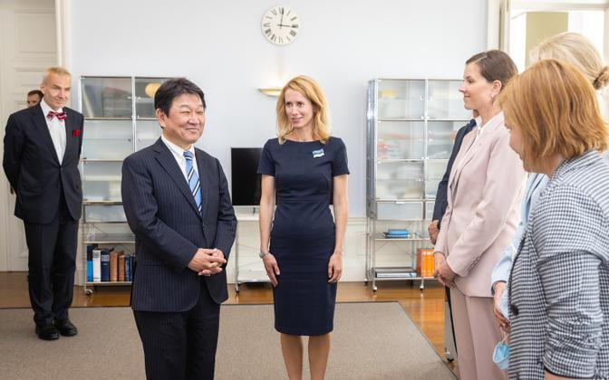 Jaapani välisminister Toshimitsu Motegi kohtus Eesti peaministri Kaja Kallasega.