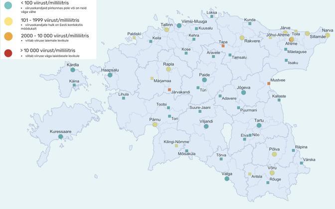 Reoveeuuringu kaart, mis põhineb 28. juunist 2. juulini kogutud andmetel