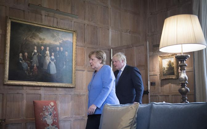 Merkel külastas Suurbritanniat kantslerina viimast korda
