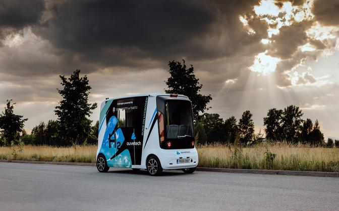 University of Tartu's autonomous hydrogen vehicle.