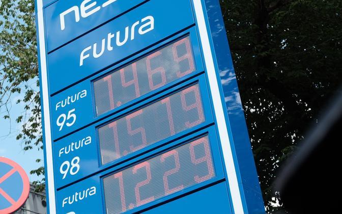 Цены на топливо на заправке Neste в июле 2021 года.