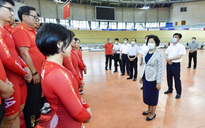 Встреча вице-премьера КНР Сунь Чуньлань с китайскими спортсменами.