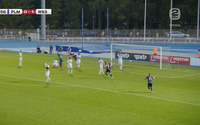 Paide Linnameeskond in action in Thursday's Europa League clash with Śląsk Wrocław.