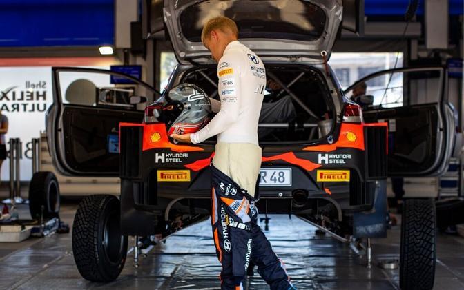Ott Tänak and the Hyundai i20 at this year's race.